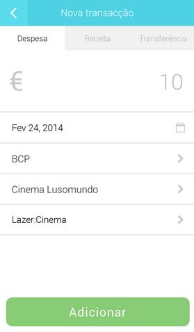 nova transacção Boonzi Mobile