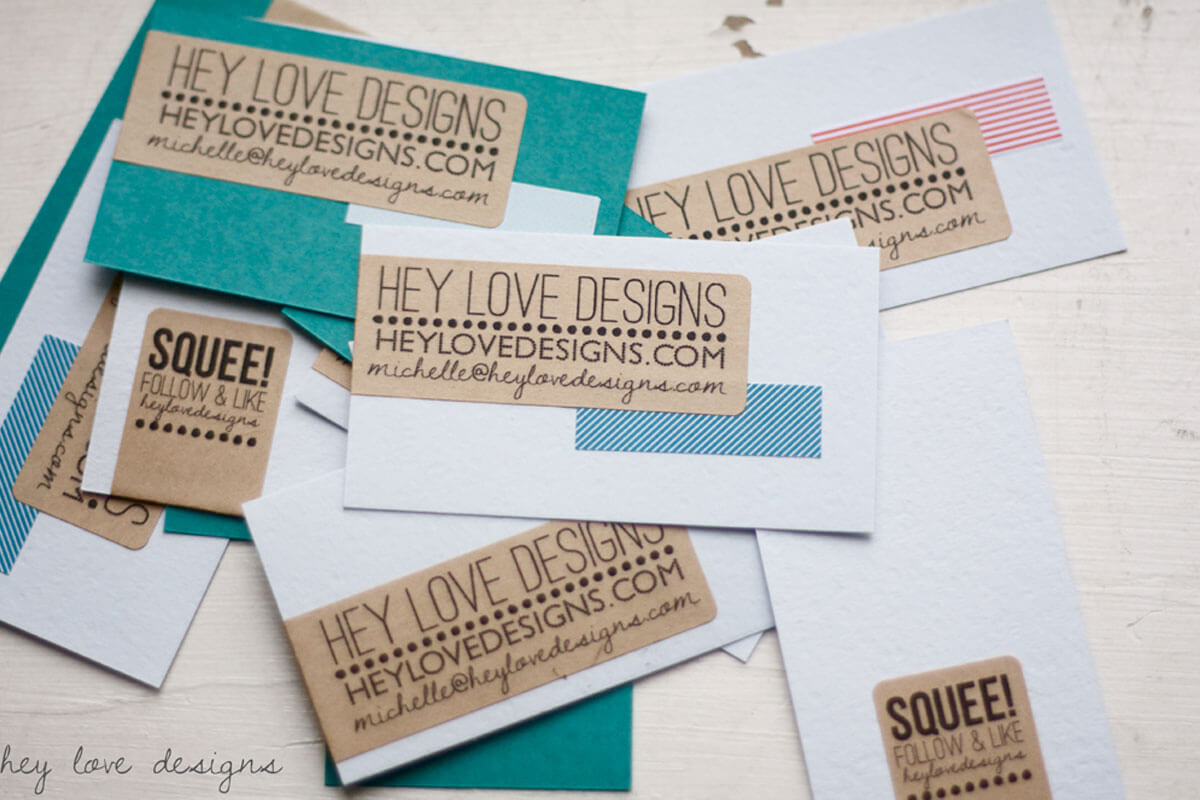 Washi tape business cards and new opportunities