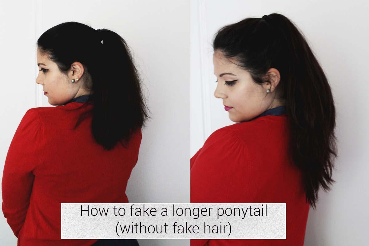 DIY Longer ponytail without fake hair