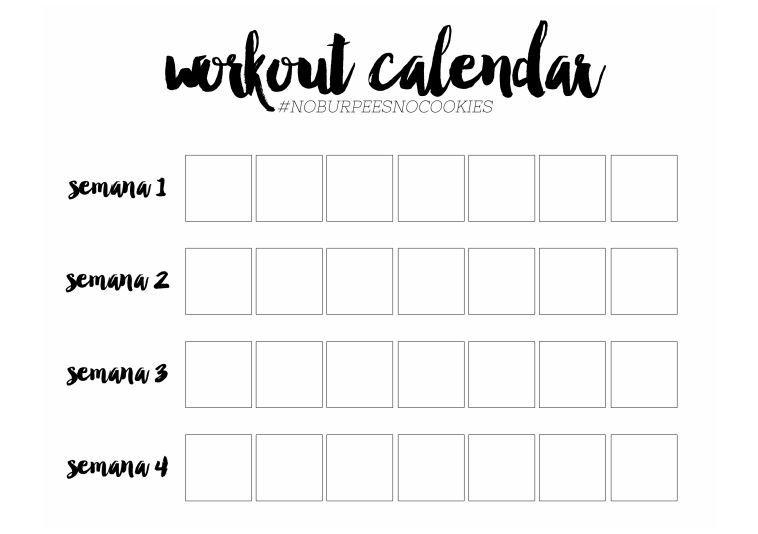 workout calendar+1