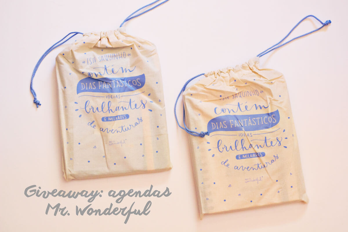 As novas agendas Mr. Wonderful e um giveaway imperdível!