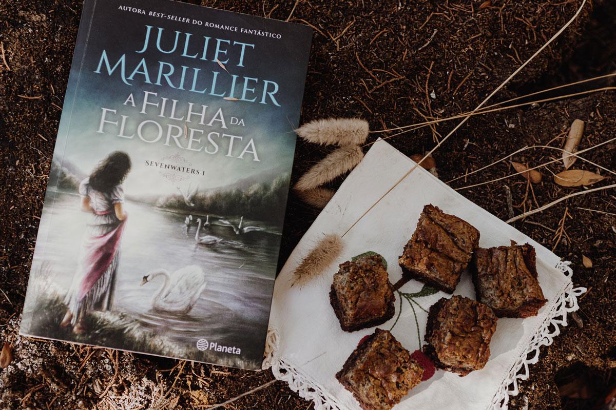 Páginas Salteadas: A  Filha da Floresta e os brownies de chocolate, chá verde e matcha